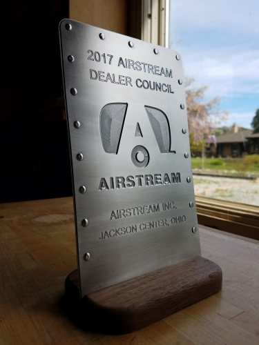 Custom Designed and Machined Award