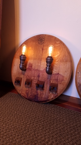 Barrel End Coat Rack and LightWith Touch LED