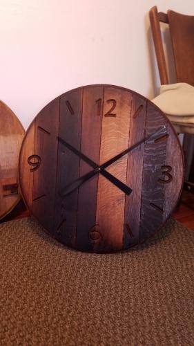 Barrel End Wall Clock