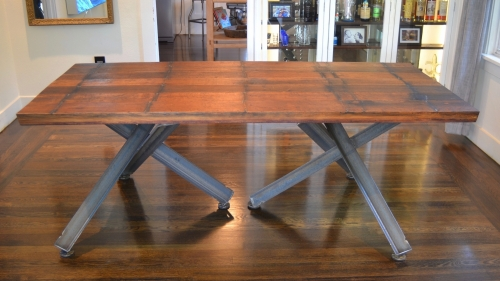 Wine Vat Table with Hedgehog Bases