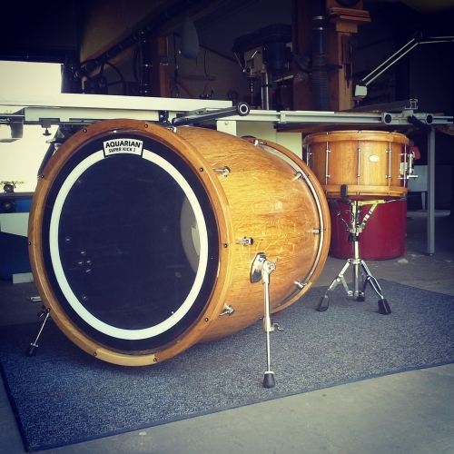 Wine Barrel Kick Drum and Snare