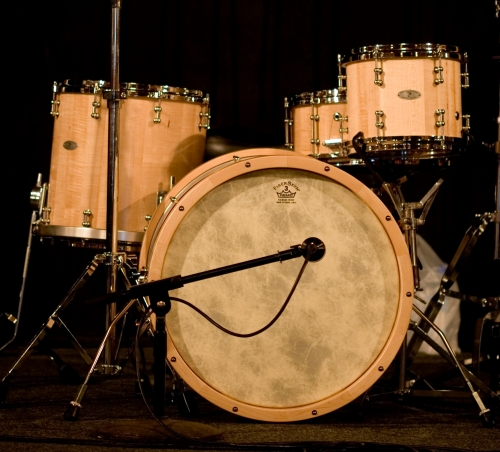 Maple Walnut Hybrid Stave Drum Set