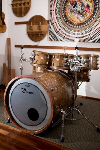 reclaimed Wine Barrel Drum Set