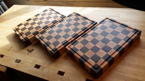 Checkered Butcher blocks